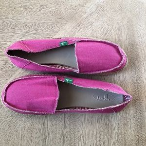 Pink Sanuk Rope Sole Shoes Size Womens 9